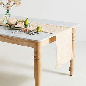 Anthropologie  Metallic Jacquard Table Runner